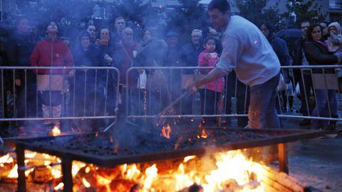 Imagen de archivo del magosto popular de Ourense, que este año no se celebrará.