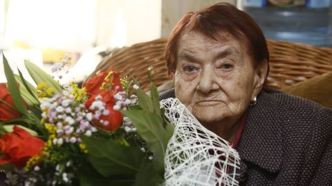 Guillermina Fraga celebró junto a los suyos su 105 aniversario