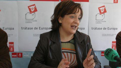 Iratxe García, presidenta del grupo socialdemócrata en la Eurocámara, en una imagen de archivo