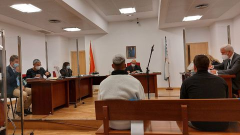 La sesión del juicio, celebrada en el juzgado de lo penal número 2 de Lugo.