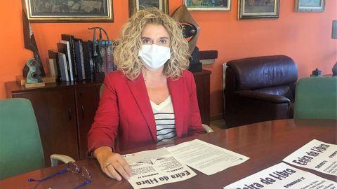 La concejala Marga Pizcueta presentó la Feira do Libro de O Barco