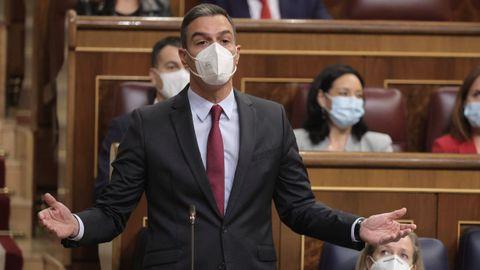 Pedro Sánchez, hoy en el Congreso