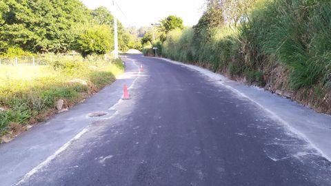 Imagen de archivo del asfaltado de una carretera