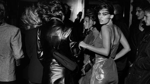 Detalle de una fotografía de la modelo brasileña Luciana Curtis, tomada en Nueva York en 1998.