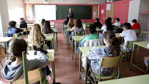 Clase de secundaria en un instituto de Santiago
