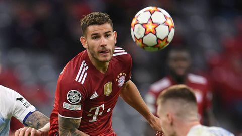 Lucas Hernández, en un partido con el Bayern Múnich