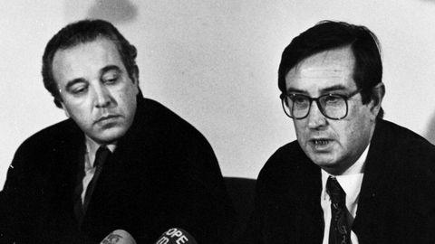 Sánchez Castiñeiras, a la derecha de la imagen, en los años 90