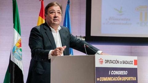 El presidente extremeño, Fernández Vara