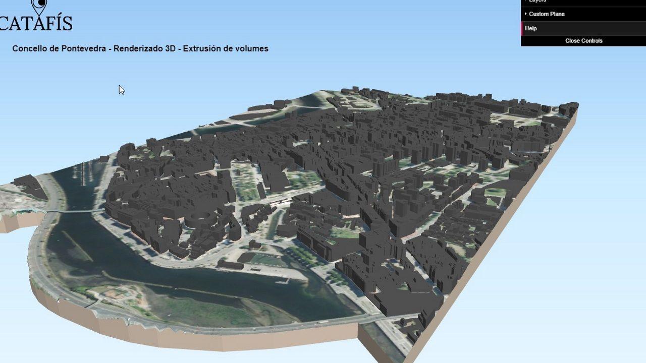 Juan Carlos I desaparece de las calles de Pontevedra.Catafís, sistema de información xeográfica del Concello de Pontevedra. La ciudad en 3D
