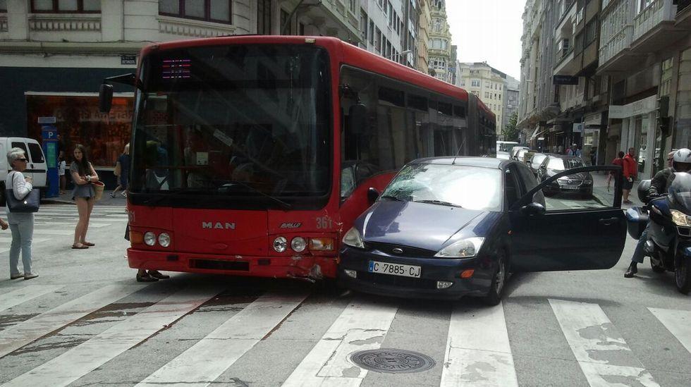 Accidente en la calle Betanzos