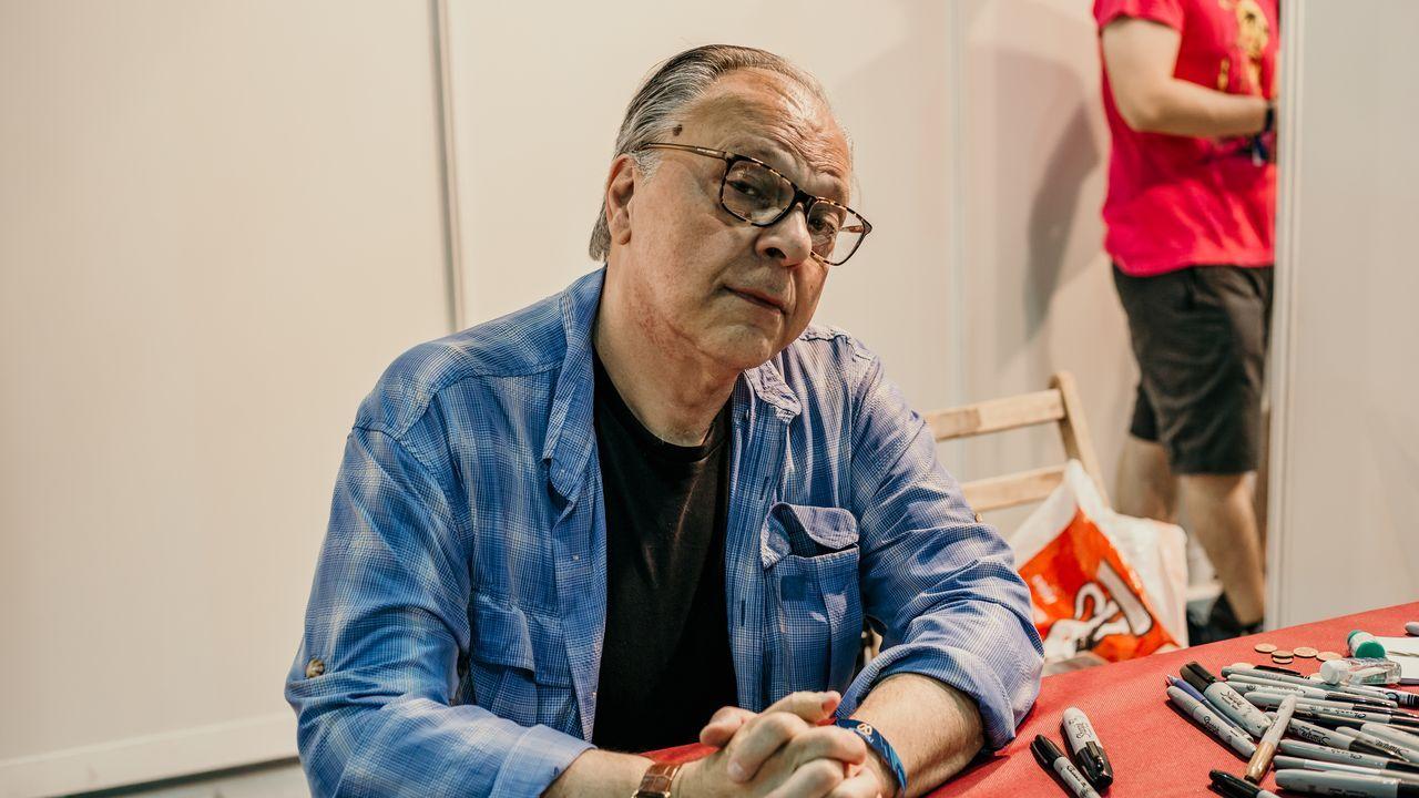 libros.Howard Chaykin, en el «Artist Alley» del Festival Metrópoli de Gijón