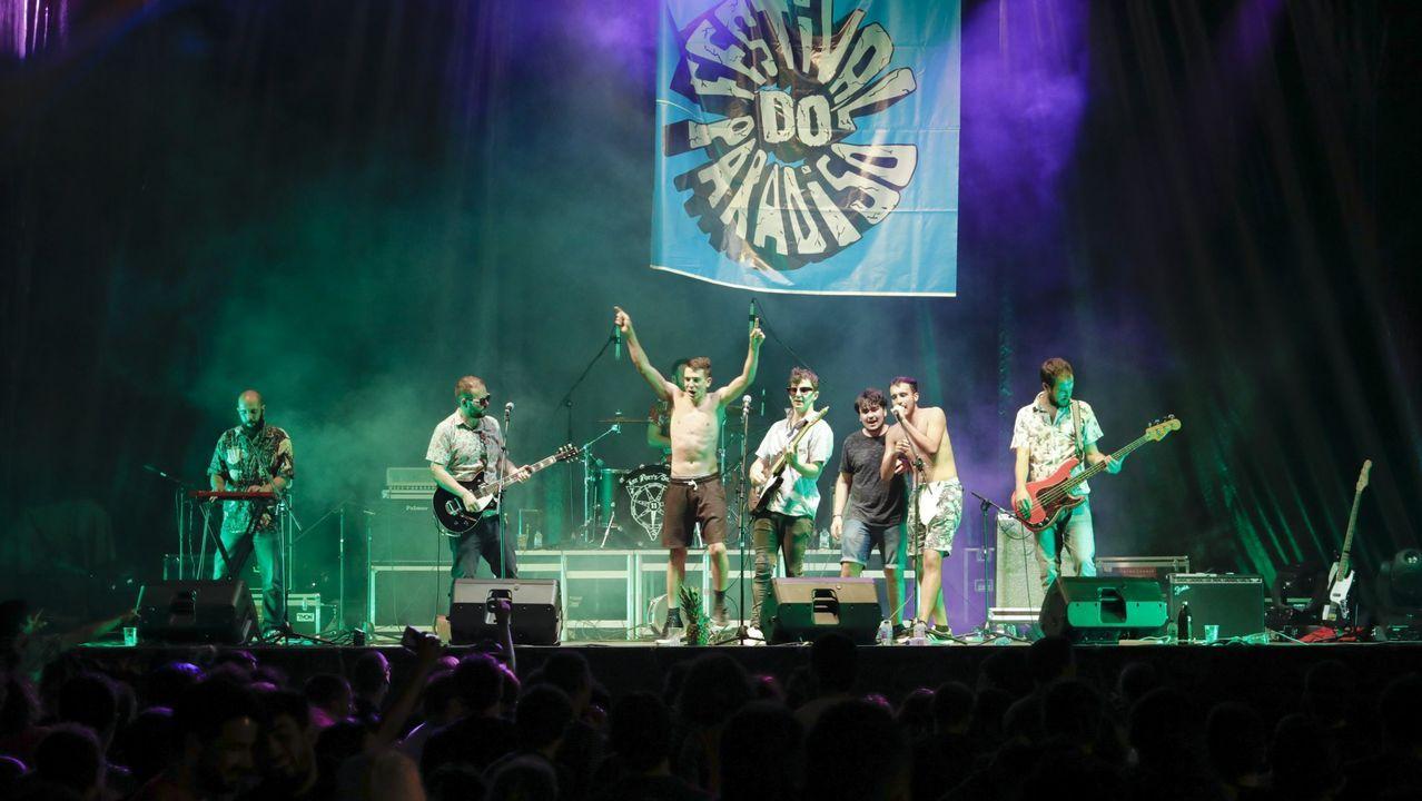 Actuación del grupo Terbutalina en una de las últimas ediciones del Festival do Paradiso