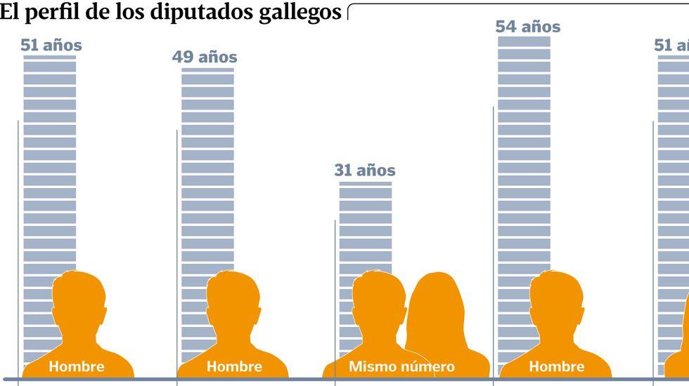 El perfil de los diputados gallegos