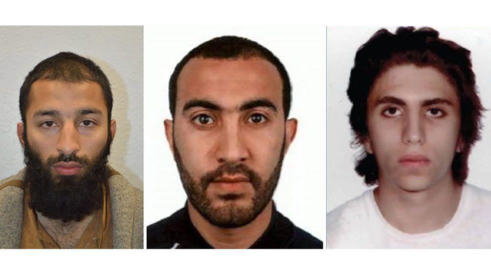 Los tres terroristas del atentado de Londres