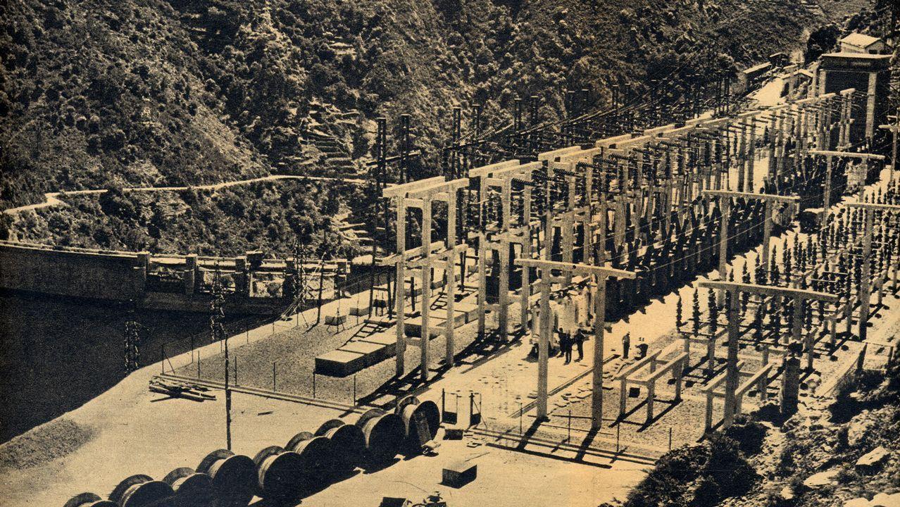 Subestación de salida de las líneas eléctricas