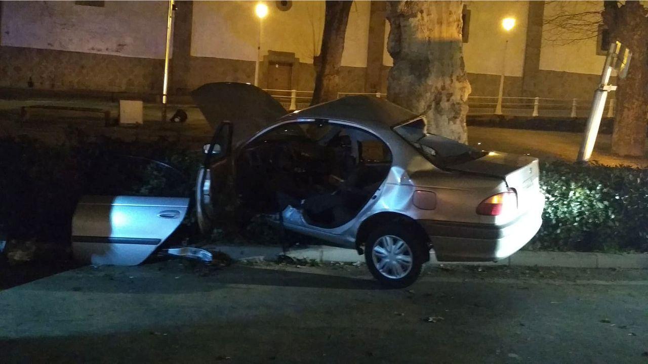 Asi quedo el coche de Ivan Navia tras el accidente