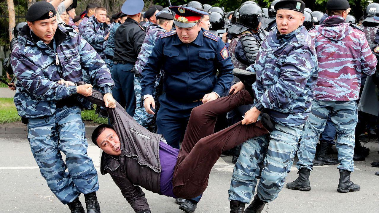 Vista general de la cárcel de Asturias.Unas 500 personas fueron detenidas durante la celebración de las presidenciales
