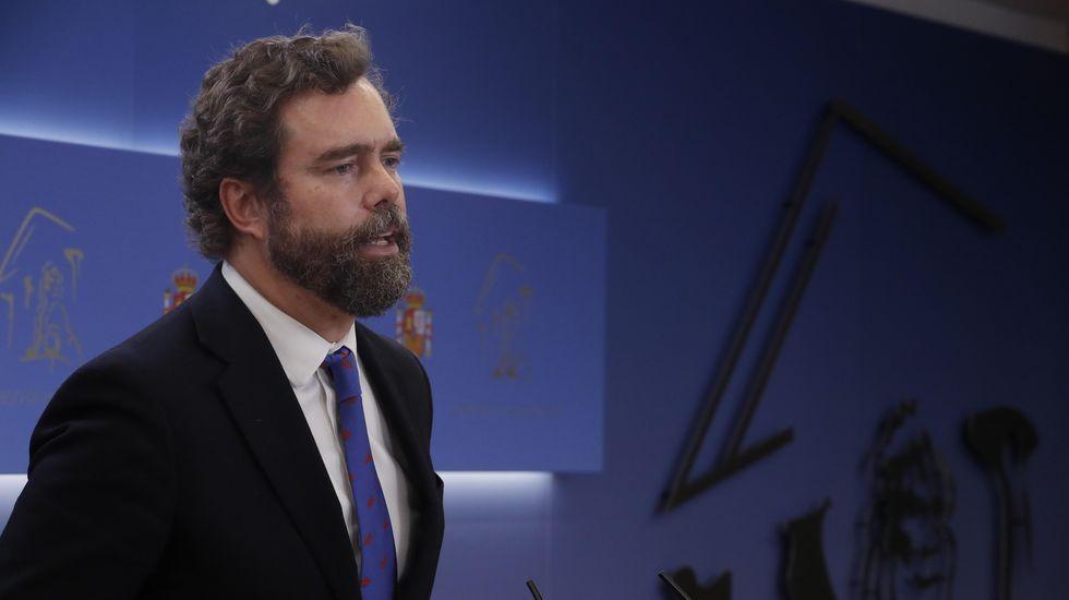 El portavoz de Unidas Podemos, Pablo Echenique, este miércoles en el Congreso.