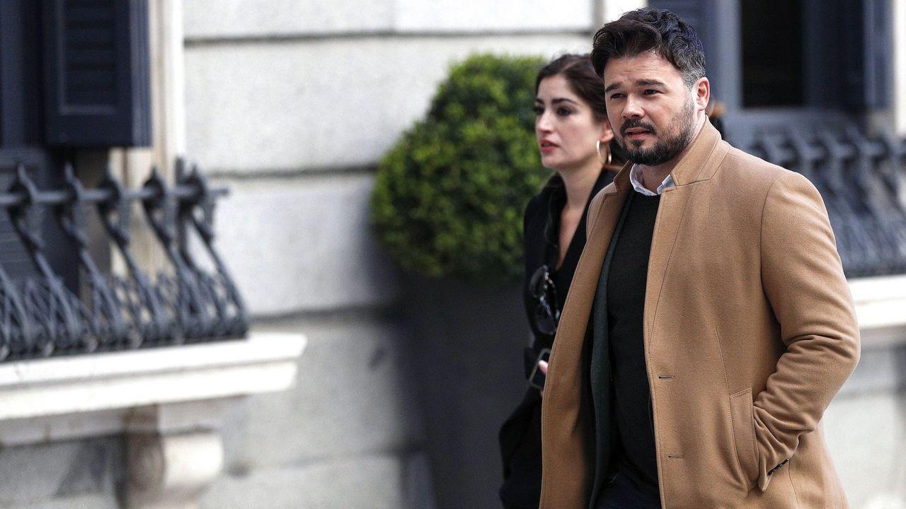 Comparecencia de Pedro Sánchez en el Congreso.Gabriel Rufián, portavoz de ERC en el Congreso de los Diputados