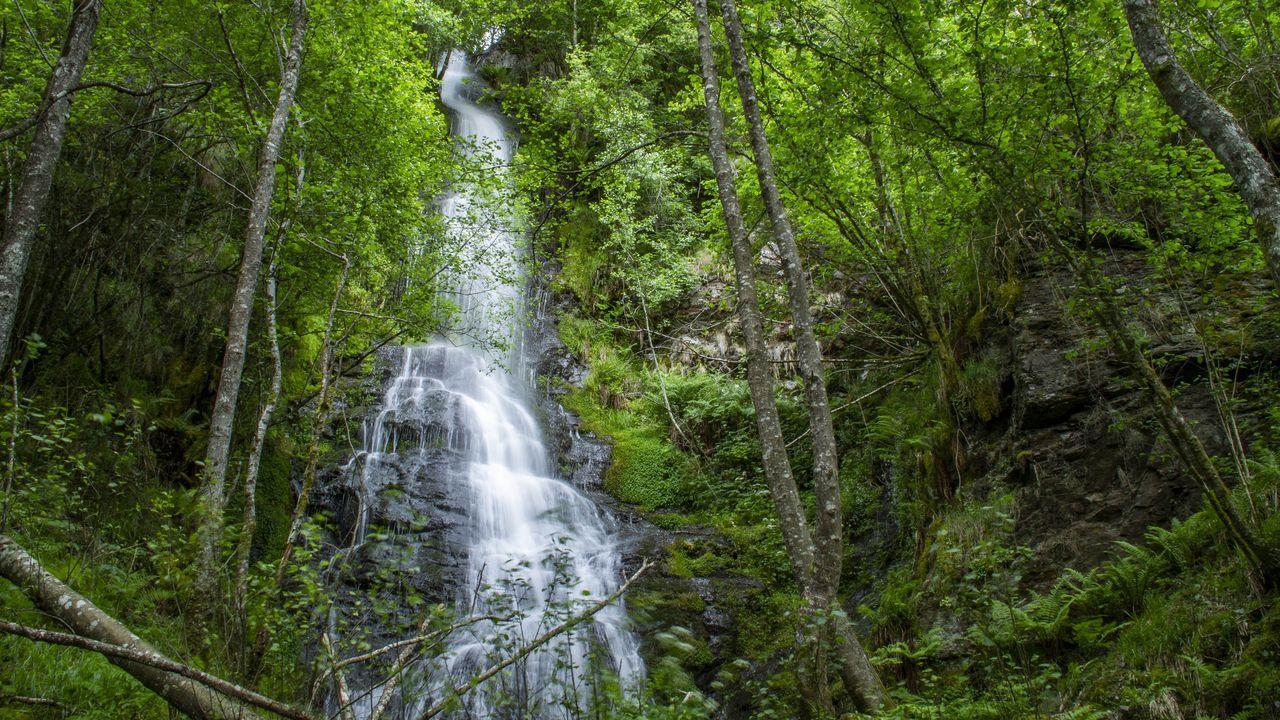 La cascada de Augadalte es otro de los saltos de agua que pueden verse en el valle del Lóuzara