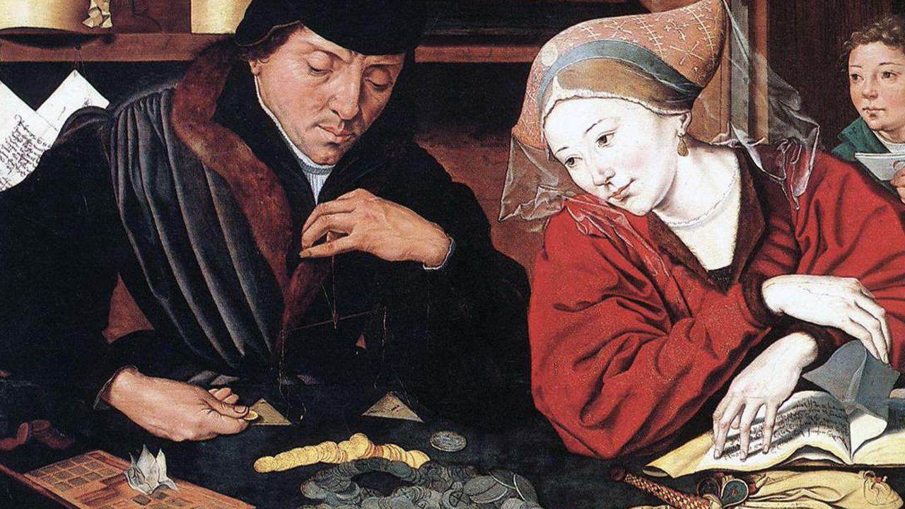 «El cambista y su mujer» de Marinus van Reymerswaele