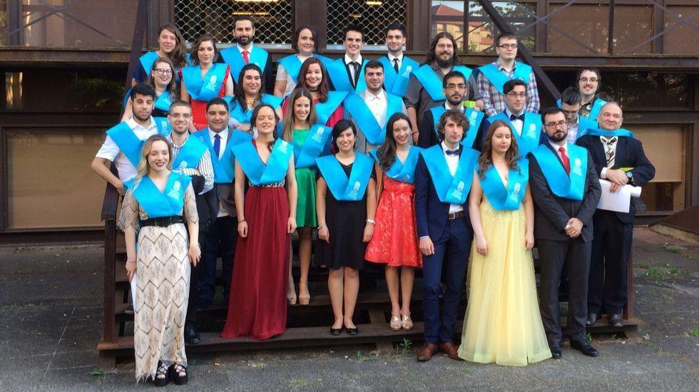 Graduación en Educación Social.El acto tuvo lugar en el salón de actos del Politécnico