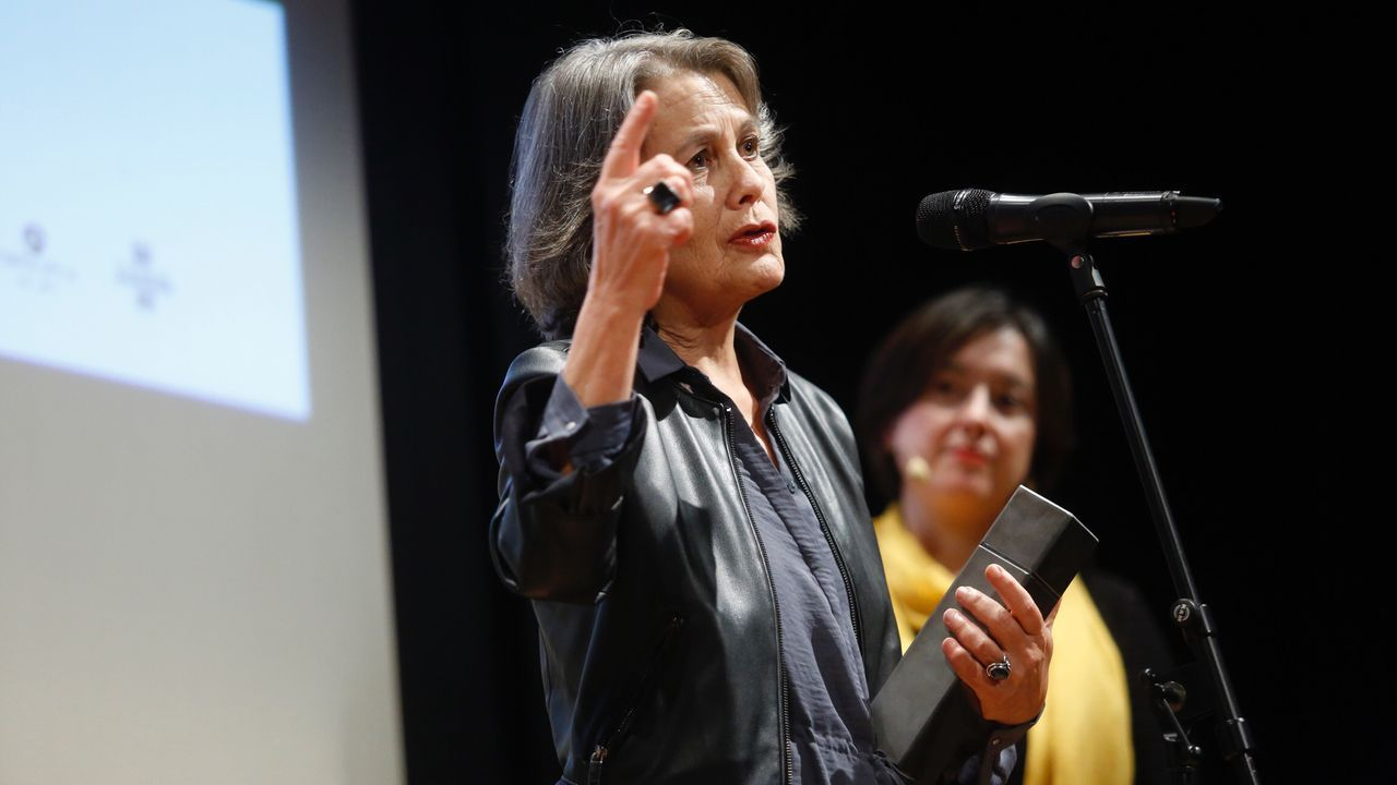 Jeffrey Katzenberg y Meg Whitman, en la presentación de Quibi en la feria CES de Las Vegas.