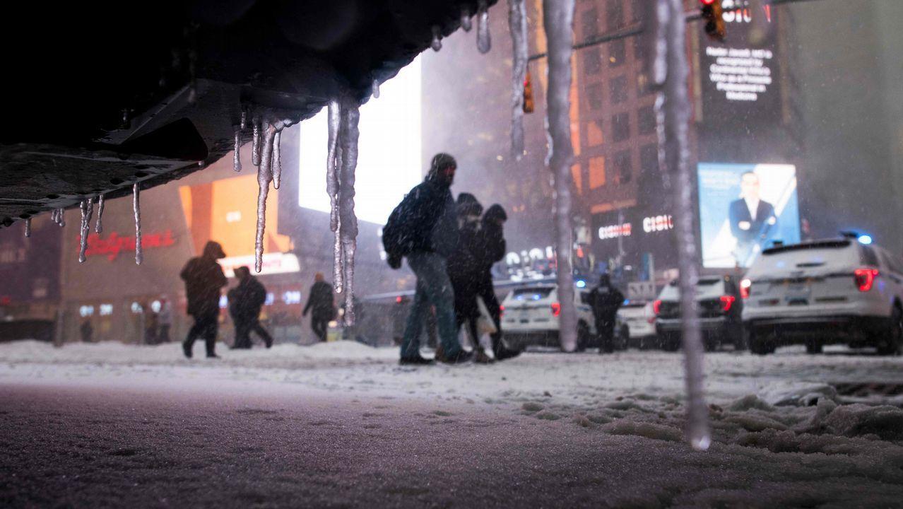 Temperaturas mínimas en Times Square