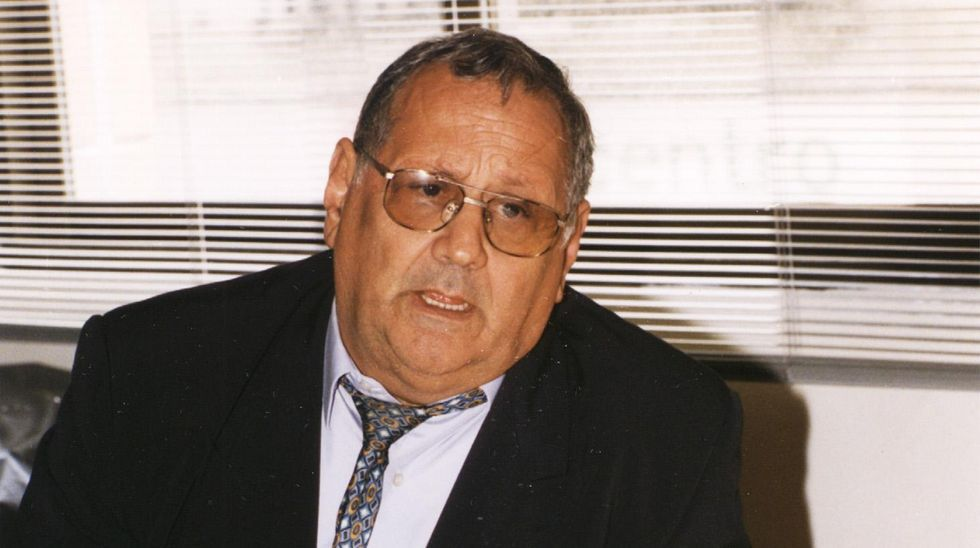 Antonio Hervella en una foto de 1999, cuando se presentó como candidato a la alcaldía por Coalición Galega