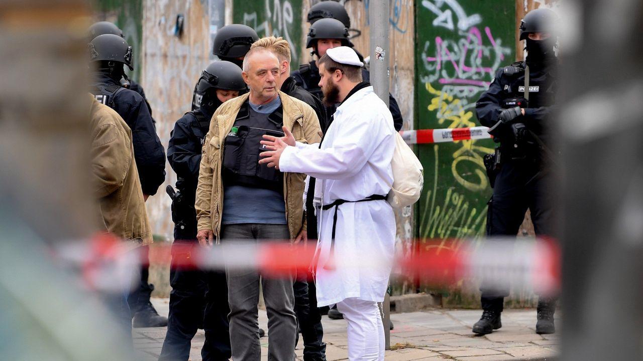 Un tiroteo cerca de una sinagoga en Alemania deja dos muertos.Ell neonazi Stephan Balliet fue trasladado en helicóptero hasta el Tribunal Supremo Federal en Karlsruhe