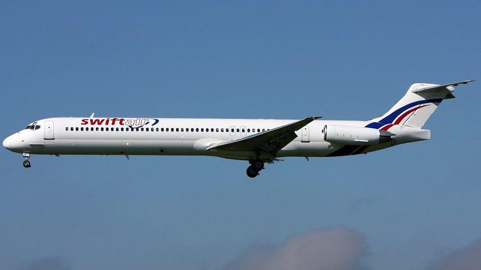 Avión.Uno de los aparatos de SwiftAir