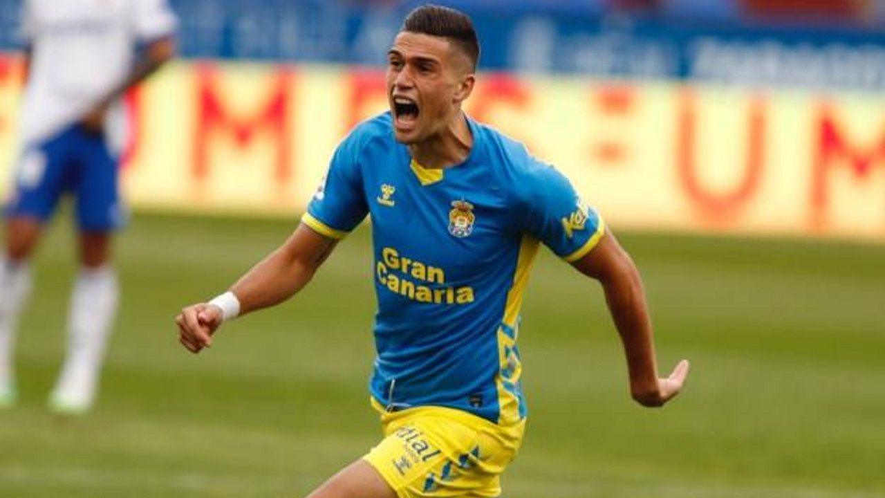 Edu Espiau, futbolista de la UD Las Palmas