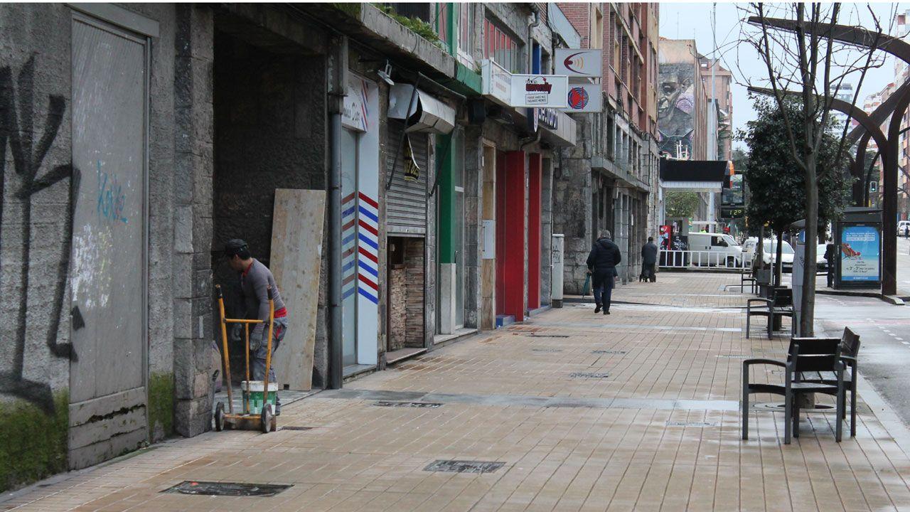 Lugar donde se produjo la agresión en la avenida de la Constitución