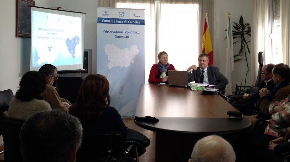 Cuatro rutas estrella en la Ribeira Sacra.La presentación de los datos del Observatorio Económico de la Diputación tuvo lugar en Castro Caldelas