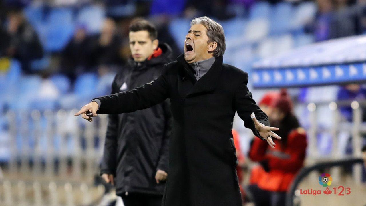 Gol Ibra Real Oviedo Sporting derbi Carlos Tartiere.Natxo González en un Zaragoza-Córdoba