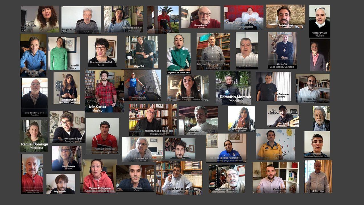 Participantes en la campaña  Queda na casa , de la Diputación ourensana