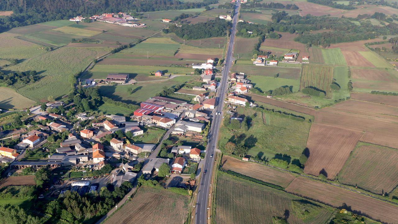 Rodeiro, el concello con sesenta jamones por cada vecino.Vista aérea de un campo en Florida