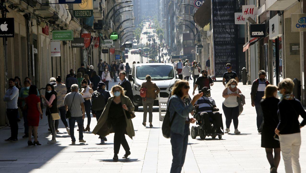 Imagen de una sidreria en Oviedo que aprovechando el buen tiempo ha decidido este sábado para reabrir sus puertas.