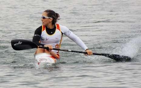 Y los Juegos Olímpicos son para... Tokio.En la imagen, la gallega Teresa Portela, ayer poco después de concluir su semifinal en Duisburgo.