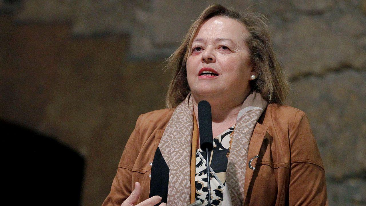 La presidenta del Consejo Superior de Investigaciones Científicas (CSIC), Rosa Menéndez