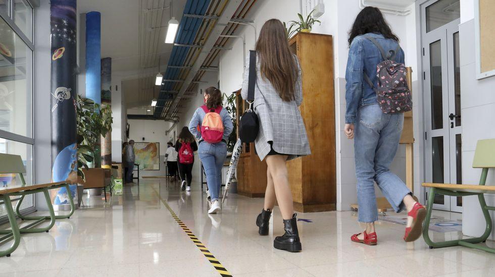 Alumnos de un instituto en la provincia de A Coruña