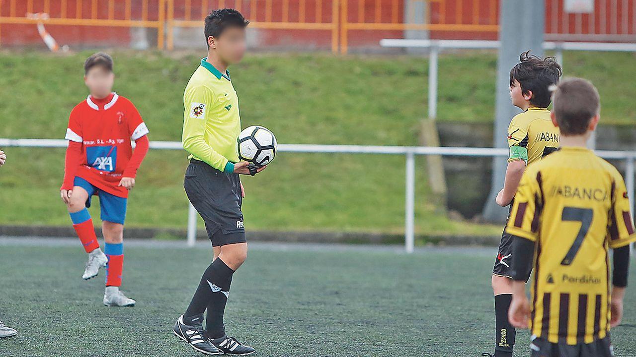 Niños árbitros en un clima de presión.GaliciaF7Cup