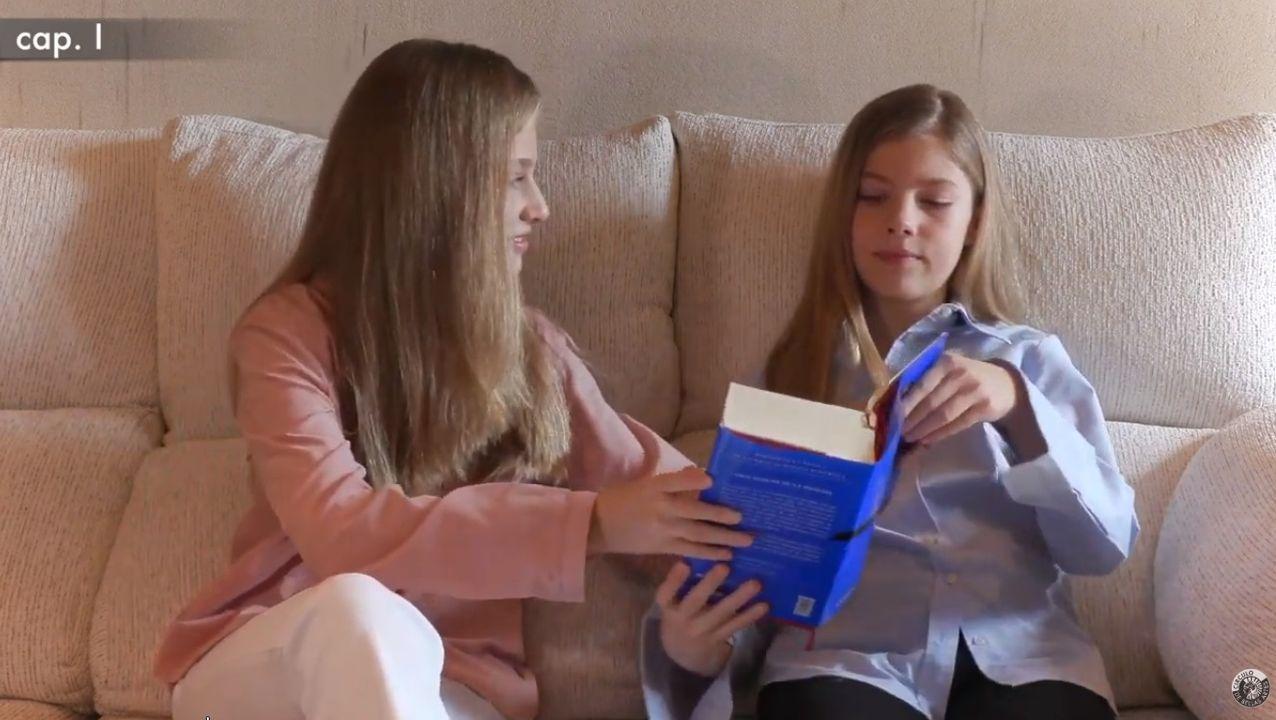 Mensaje de agradecimiento de las infantas Leonor y Sofía