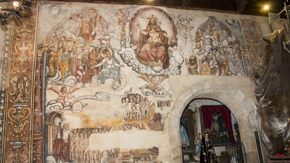 La reciente restauración de un importante conjunto de frescos renacentistas ha incrementado el valor de la iglesia de Nogueira de Miño