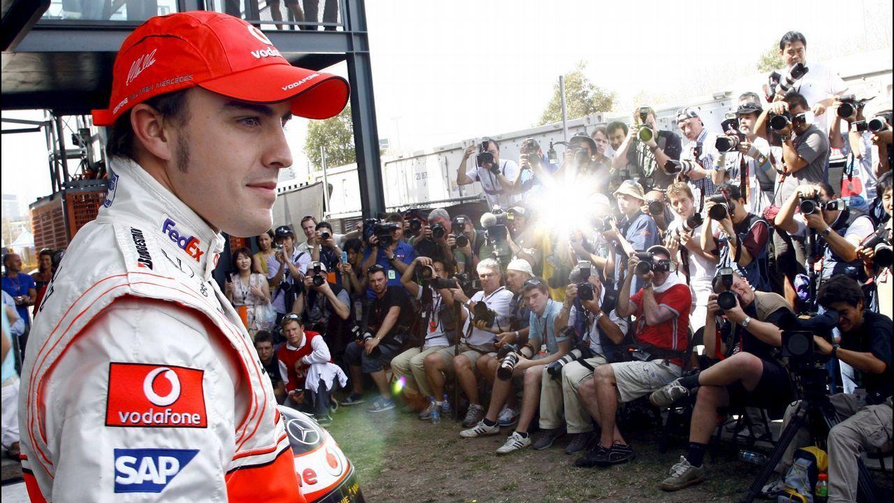 Alonso, en un inicio de temporada en Australia con Maclaren