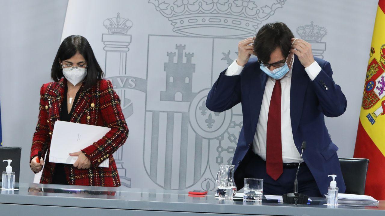 El colapso en Madrid llega a los hospitales, con centros completamente bloqueados.Los ministros de Política Territorial, Carolina Darias, y Sanidad, Salvador Illa