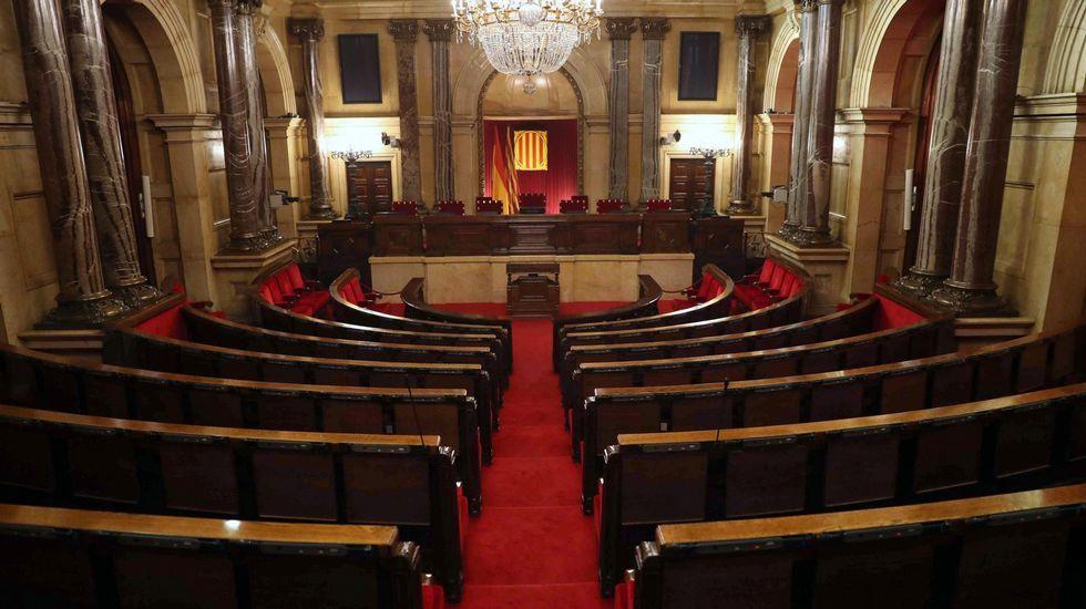 Esta mañana se celebró la última Mesa de la Diputación Permanente del Parlament presidida por Carme Forcadell