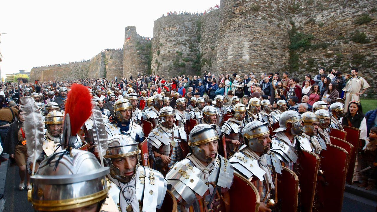 Lucus Augusti desfila para el mundo.Arde Lucus