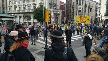 Un momento de la manifestacíón de la Plataforma 'Un futuro sin carbón'