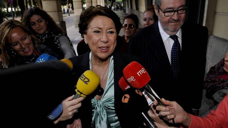 La exministra Magdalena Álvarez, a su llegada a los juzgados